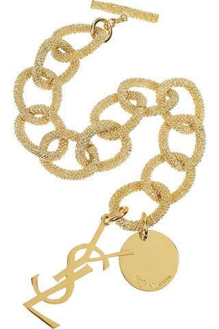 YSL Gold Chain Bracelet