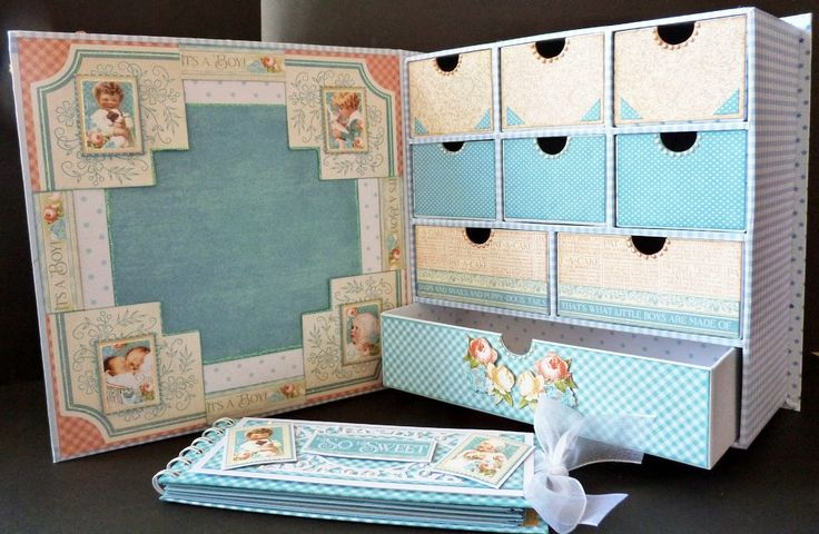 Scrappydoodledoo: Graphic 45 Design Team Audition 2015 Precious Memories Box with Drawers and Mini Album