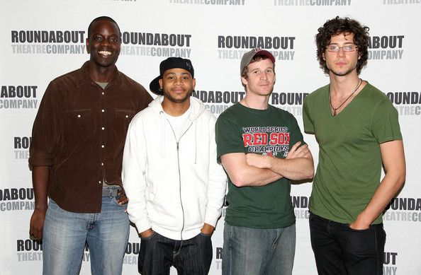 """Hale Appleman Photos Photos - (L-R) Actors Ato Essandoh, J.D. Williams, Brad Fleischer and Hale Appleman attend a photo call for """"Streamers"""" on October 1, 2008 in New York City. - Cast Of """"Streamers"""" Attend Rehearsals"""