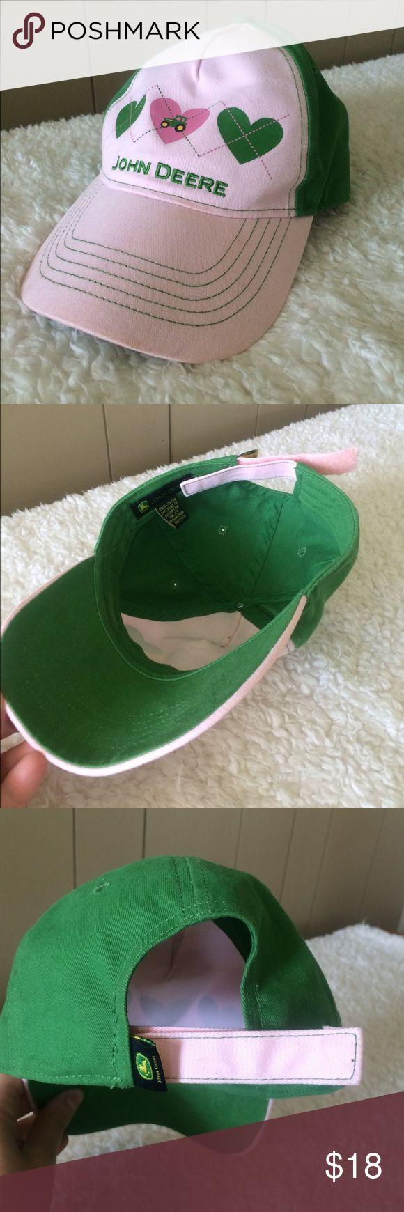 John Deere Ball Cap Cute John Deere ball cap! Only worn once. One size fits all. John Deere Accessories Hats