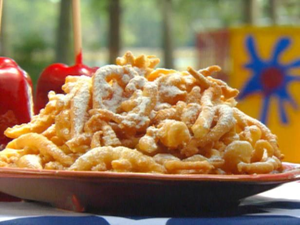 Get Paula Deen's Funnel Cakes Recipe from Food Network--trying these for Sarah's BD tonight!