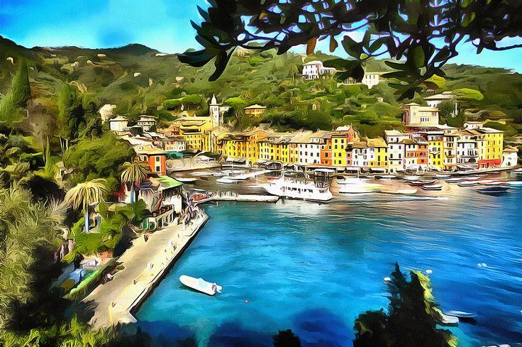The Harbor of Portofino, Liguria
