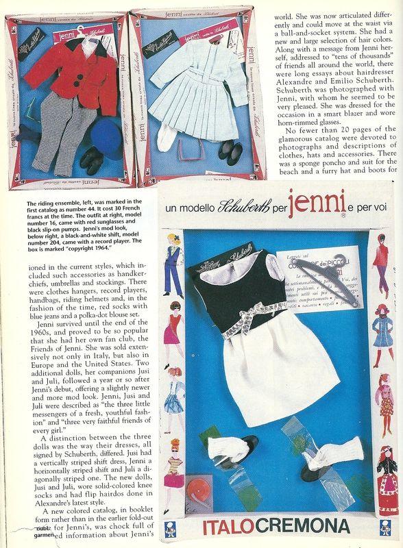 magazine Dolls de Février 1995 un article sur cette poupée et sa garde-robe. Pag. 3