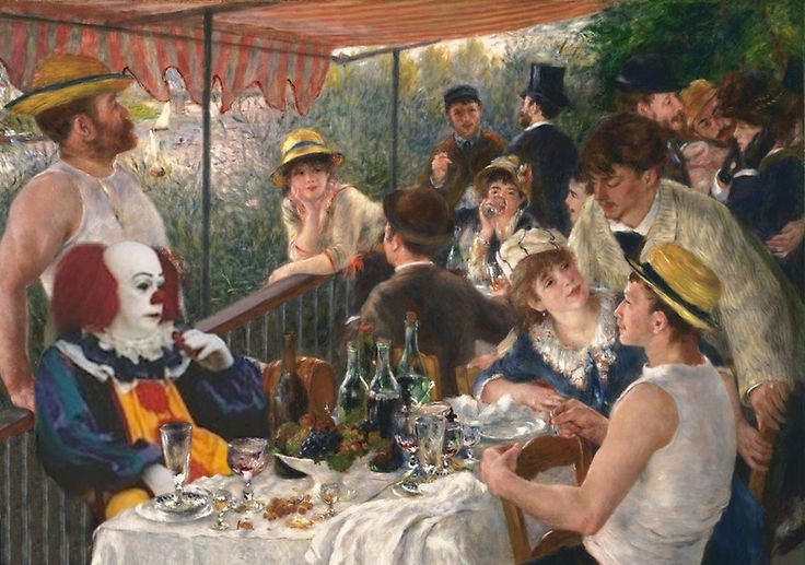 IT's Pennywise in Luncheon of the Boating Party