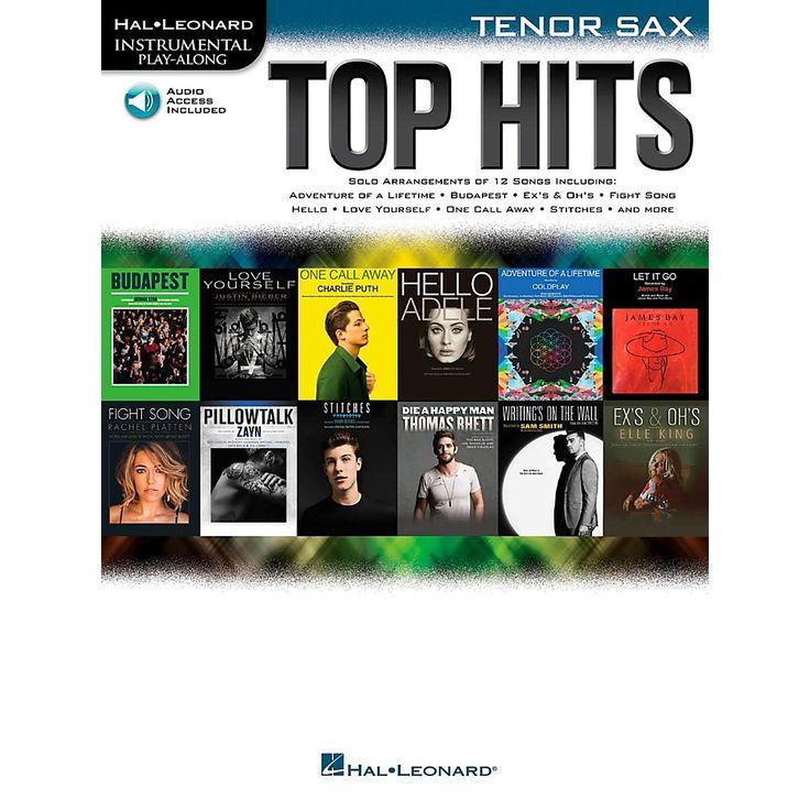 Hal Leonard Top Hits For Tenor Sax - Instrumental Play-Along Book/Online Audio