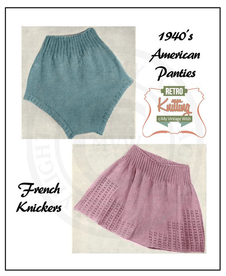 Knitting Pattern For Underwear : 1000+ images about Knickers! on Pinterest