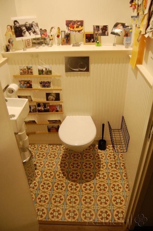 Cementtiles Toilet - OS 21 - Project van Designtegels.nl