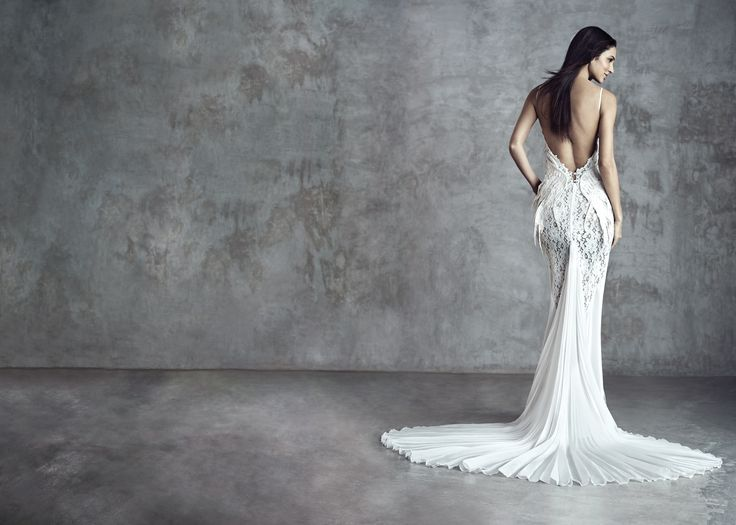 """Photographer: Gerald Goh from Imagerom Studio Code: D20353 Description: Embroidered """"Kissing Birds"""" with mixed laces and fabrics long gown #weddings #melindalooi #melindalooiivory #ivory #bridal #weddingdress #bridaldress #weddinggown #gown #bridalgown #bride #vintage #embellishments #crystallized #swarovski #glassbeads #waterpearls #beading #beaded #tulle #frenchlace #lace #satin #silk"""