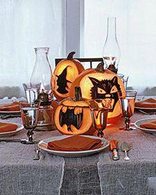How to make spooky pumpkin prints for Halloween.