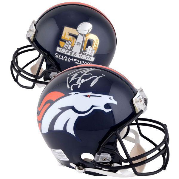 Peyton Manning Denver Broncos Fanatics Authentic Autographed Riddell Super Bowl 50 Champions Pro-Line Helmet - $899.99