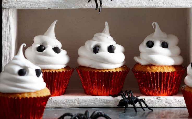 Ghost cakes recipe - By Woman's Day, These spooky ghost cakes are sweet, buttery and simply divine! The perfect sweet treat for this Halloween!