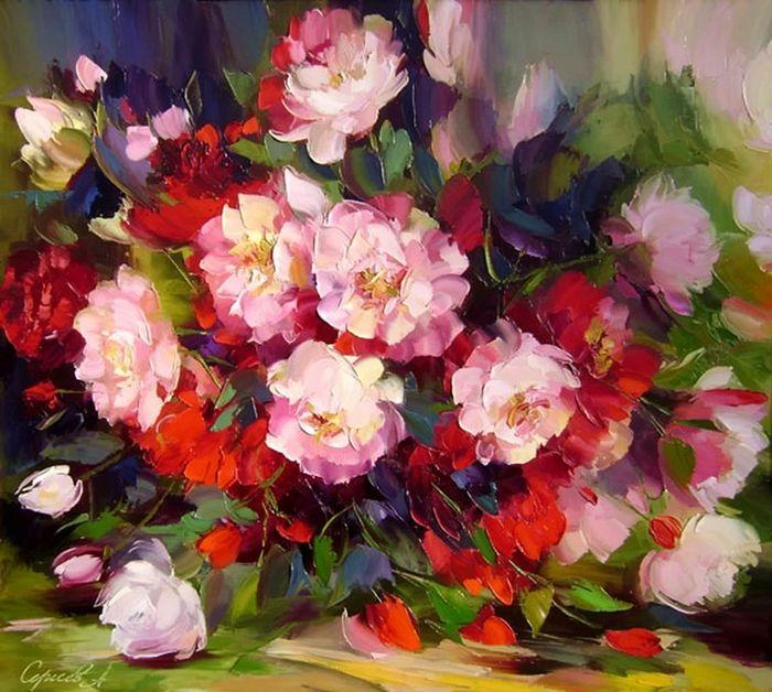 Alexander Sergeev 1968   Russian Still life painter