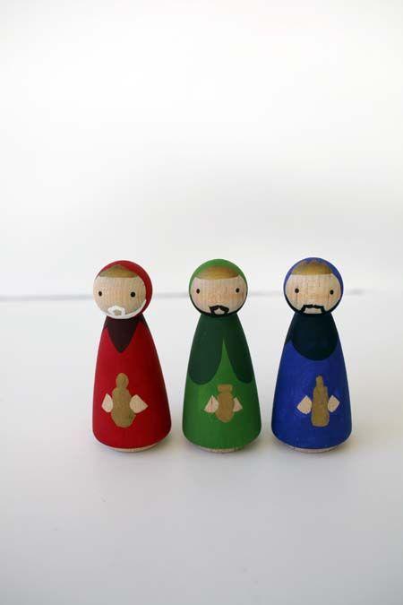 Modern Peg Doll Nativity Set - Brave New Home