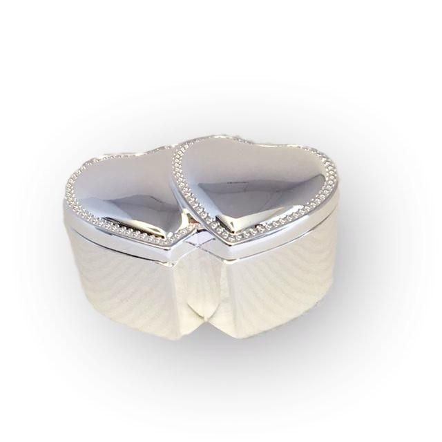 New Product Announcement Silver Double Hea... See it now!  http://weddingforyou.co.nz/products/silver-double-heart-ring-box?utm_campaign=social_autopilot&utm_source=pin&utm_medium=pin