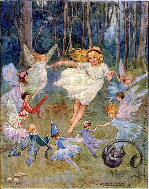 Fairy DANCE. Margaret TARRANT. Vintage door DandDDigitalDelights