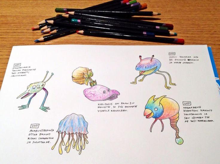 Imaginary Pikmin Creatures by Johannes Koski