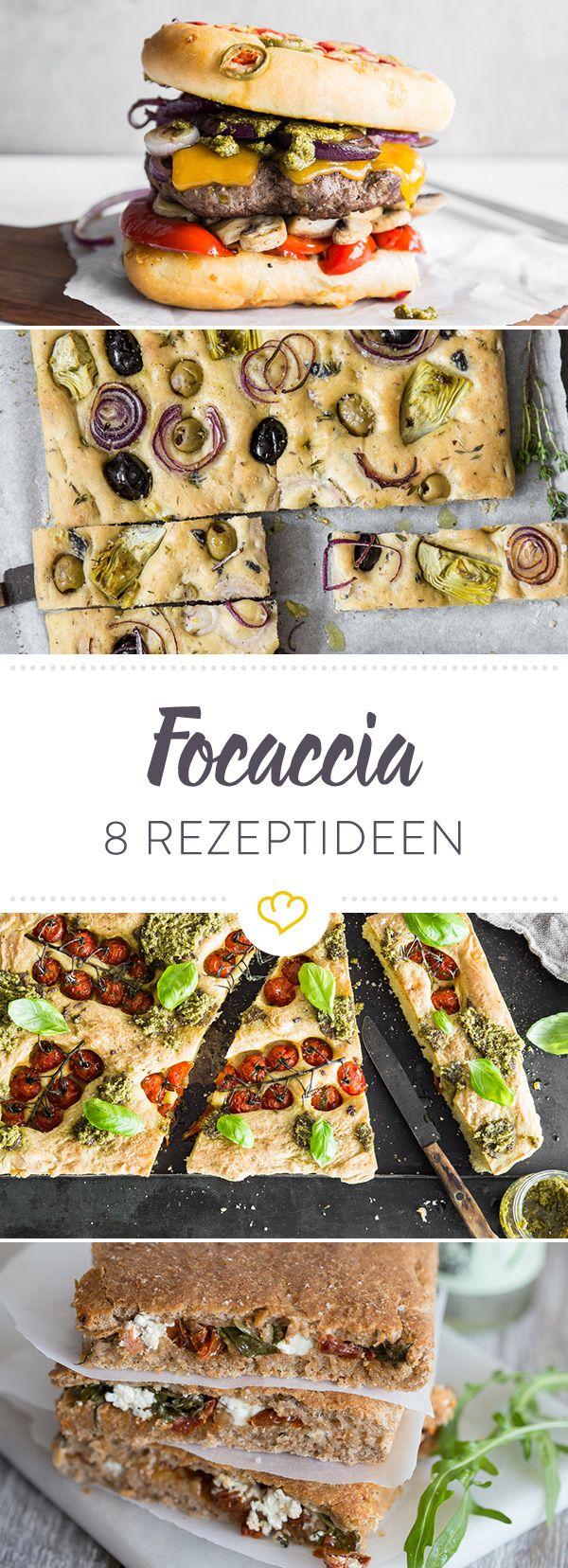 Focaccia: Entdecke hier 8 köstliche Varianten des leckeren Fladenbrots aus Italien und erfahre, warum es das wohl entspannteste Fladenbrot der Welt ist.
