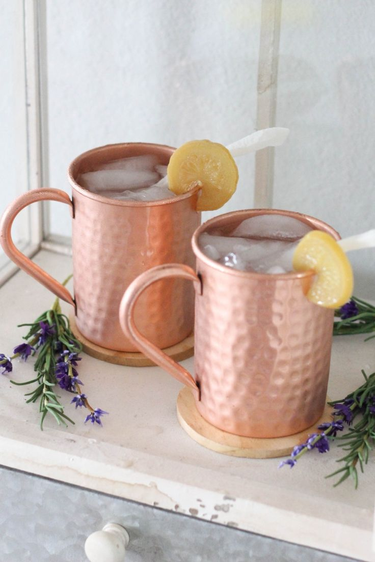Lemon Coconut Moscow Mule made with vodka, lemon juice, and coconut rum