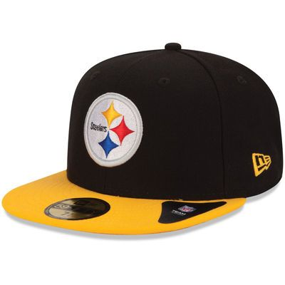 New Era Pittsburgh Steelers Black/Gold 59FIFTY Fitted Hat