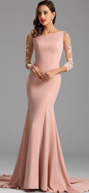 Elegant Fitted Mermaid Formal Dress