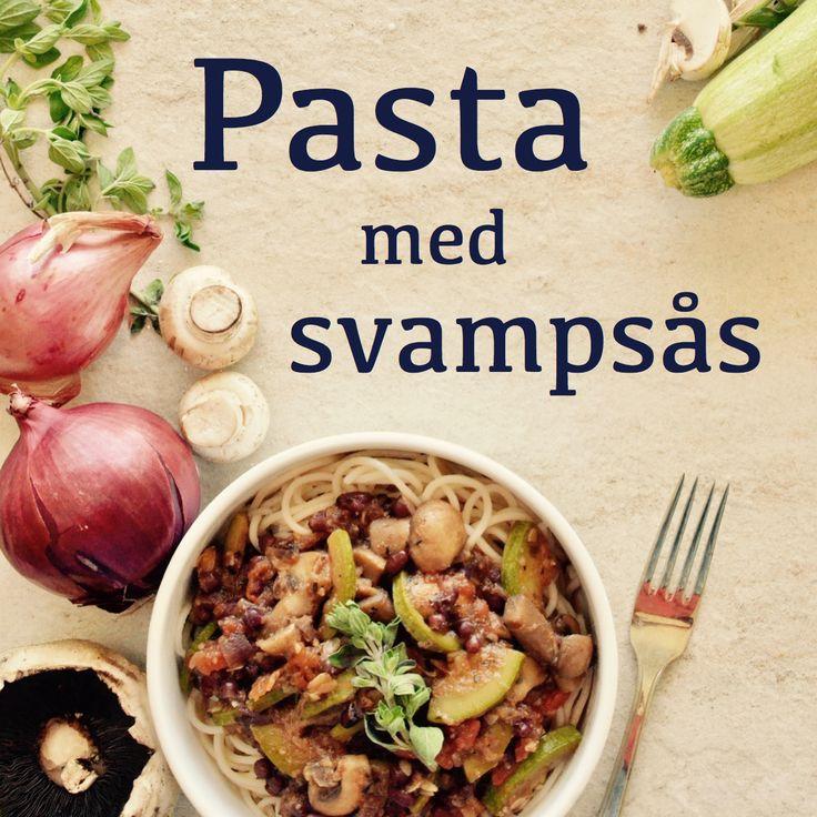 Pasta med svampsås! Receptet finns i meny 1.  www.allaater.se