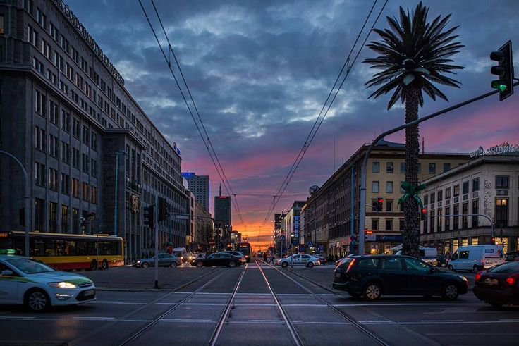 Sunset in Warsaw, Jerusalem Avenue (al. Jerozolimskie) 30th October 2013 by Konrad Grymin from Warszawa Nieznana on fb: https://www.facebook.com/WarszawaNieznana