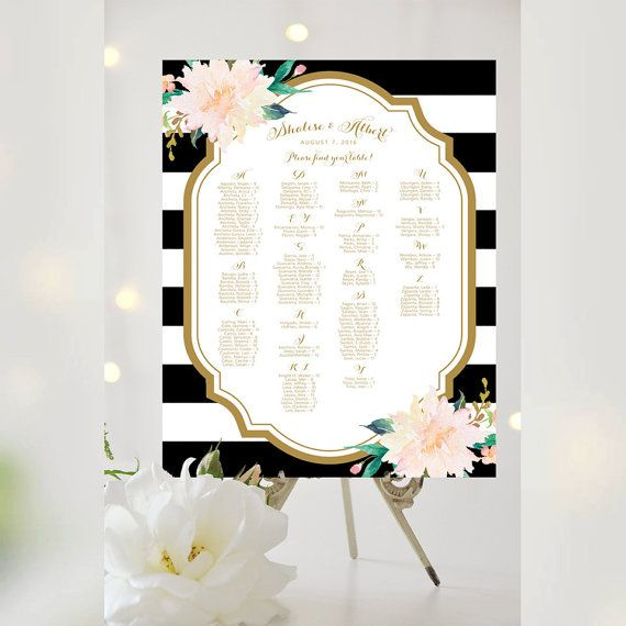 #Weddings #seating #chart #printable #signs #template #affordable #classic #floral #decorative