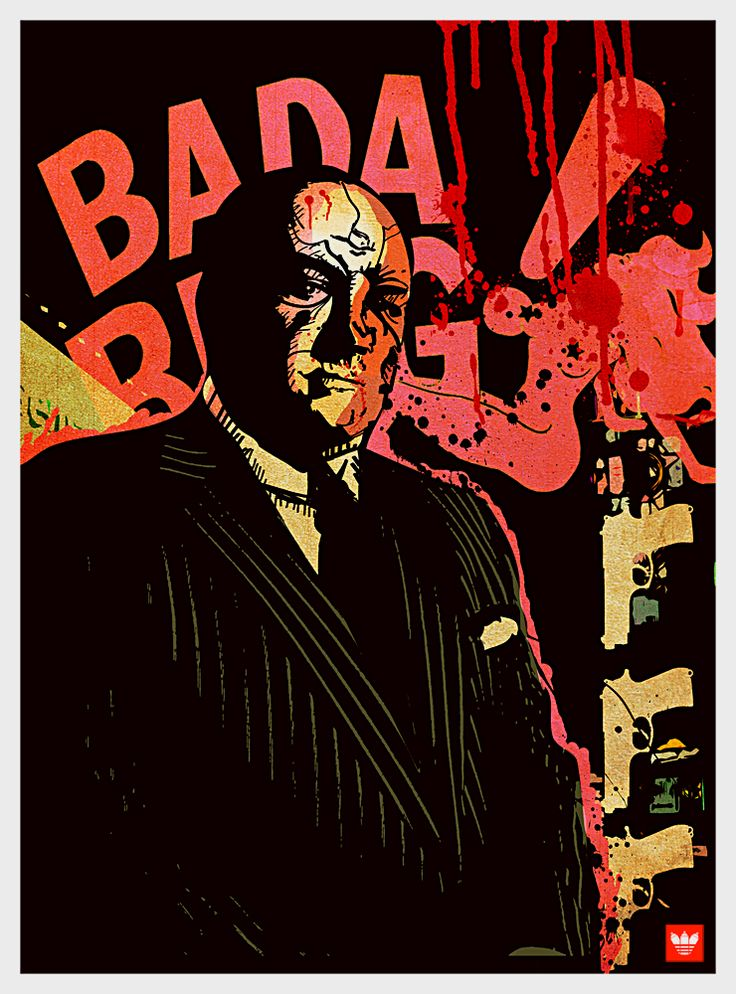 The Sopranos - Tony Soprano in front of the Bada Bing sign #GangsterFlick