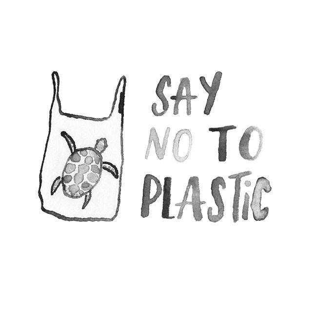 Say no to plastic | Spruch und Sprüche für ein plastikfreies Leben und Nachhal… – support your local planet