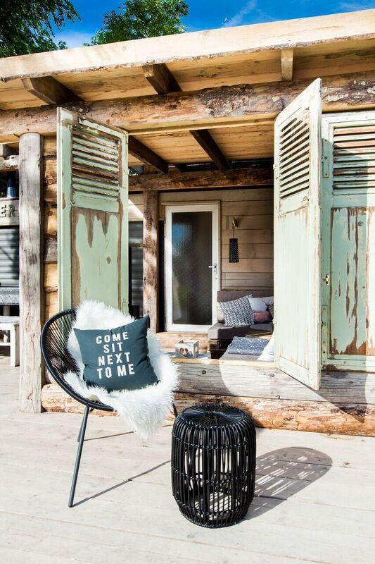 Mountain lodge veranda