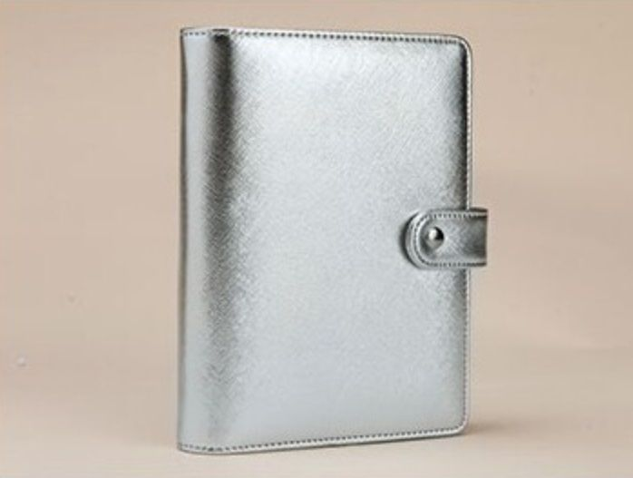 A5 A6 zilver goud hervulbare dokibook dagelijkse notebook losbladige filofax planner agenda notepad bindmiddel