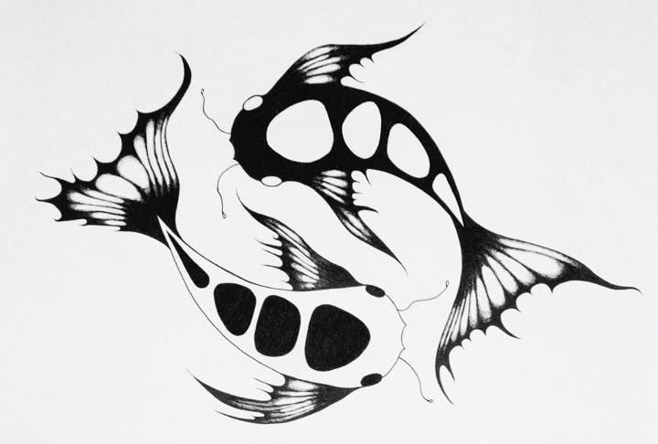 Yin and yang koi fish by wylissa11 on deviantart for Koi fish yin yang