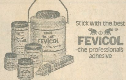 One of the earlier print ad of Fevicol