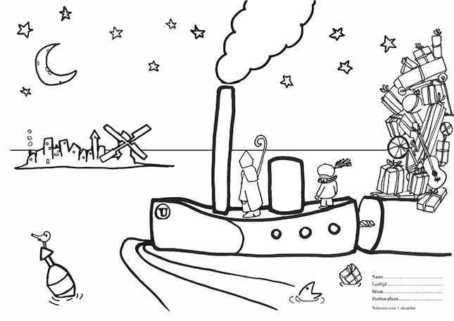 sinterklaas coloring pages - photo#37