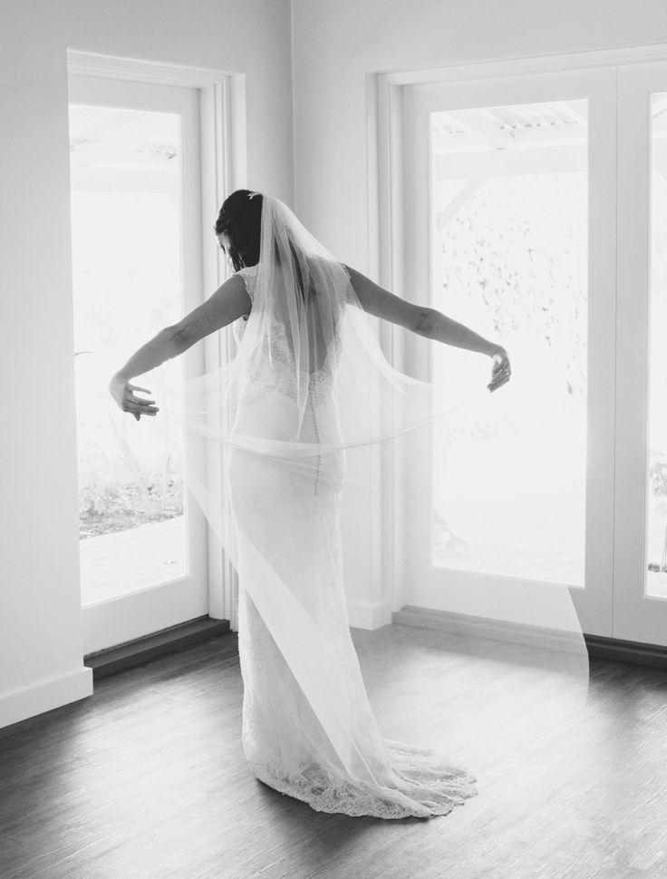 Nicole's silky soft veil - www.hollybarkermillinery.com   Photography:  www.sarahtonkin.com.au   Read More on SMP: http://www.stylemepretty.com/australia-weddings/2016/03/08//
