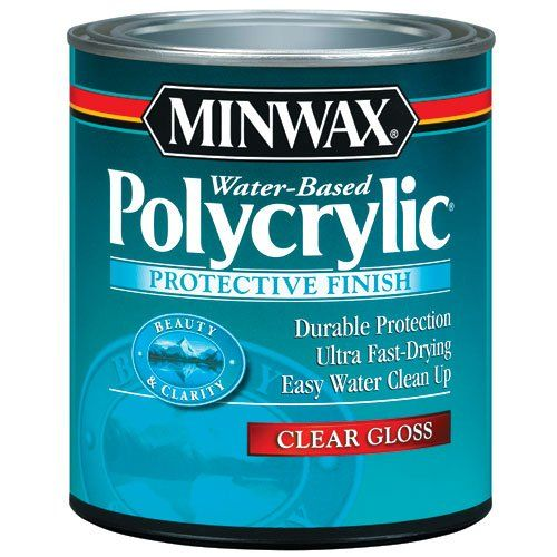 Polycrylic Semi-Gloss, use for formica table re-do