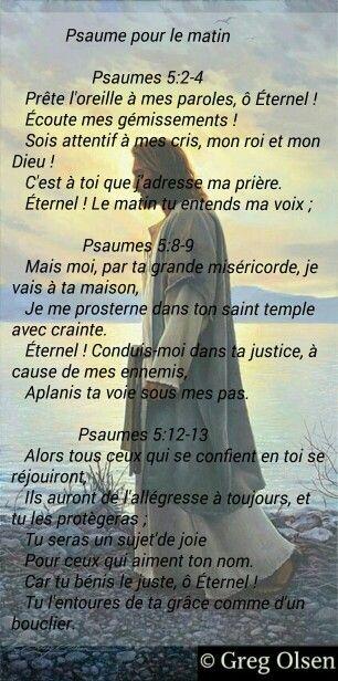 Psaume pour le matin