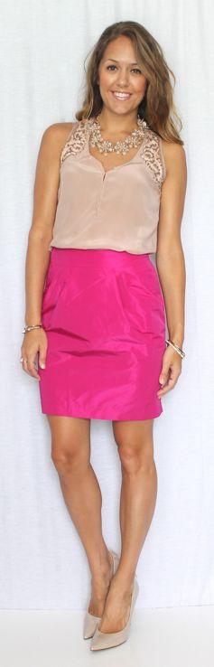 Blush + hot pink