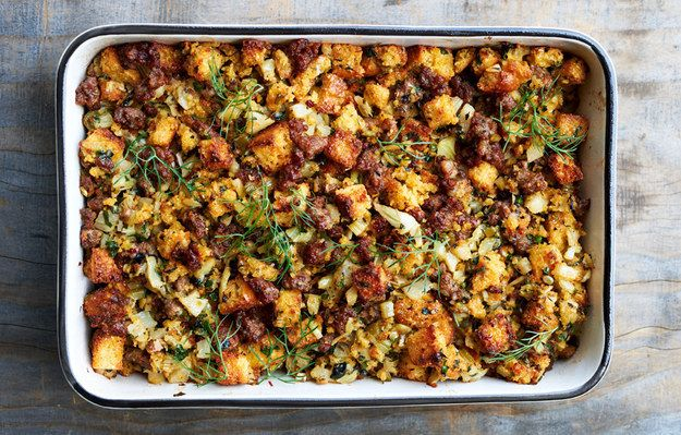 Cornbread Dressing with Sausage and Fennel   29 Thanksgiving Side Dishes That Will Make Turkey Irrelevant