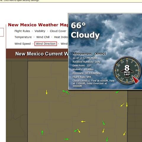 usairnet.com    When you use the wind direction map link, you hover over the arrow for your county airport, you get this lovely pop-up that shows you: wind speed (and gusts if applicable); wind directionl; cloud cover; etc. it's an awesome website for planning your ride.