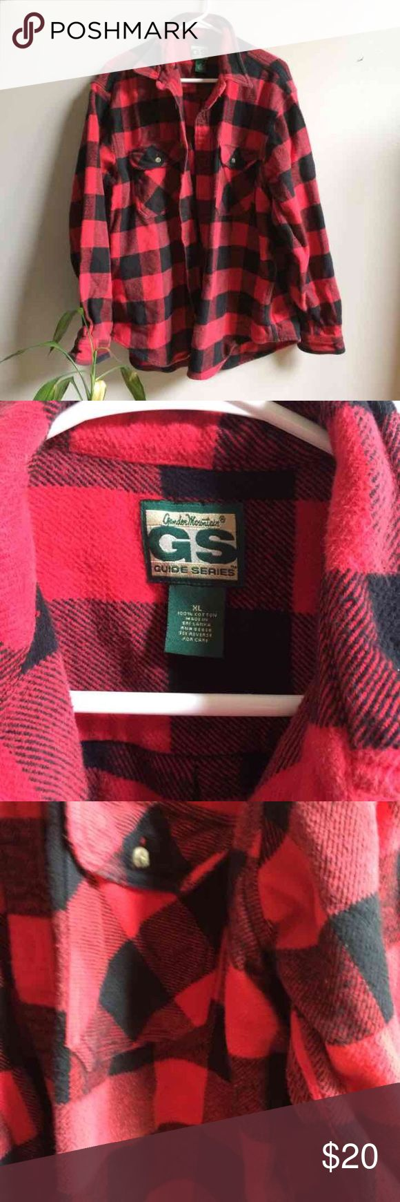 Red Thick Men's Flannel Shirt XL Gander Mountain guide series. Very good condition. Gander Mountain Tops