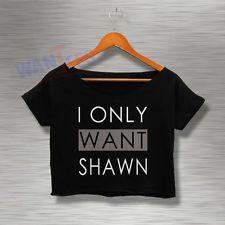 Magcon Crop Top Tee Shawn Mendes Shirt Tshirt Womens Adults Croptee croptees