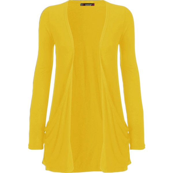 Delora Long Sleeve Pocket Cardigan (16 CAD) ❤ liked on Polyvore featuring tops, cardigans, jackets, lullabies, outerwear, yellow, long sleeve cardigan, pocket tops, yellow long sleeve top and yellow cardigan