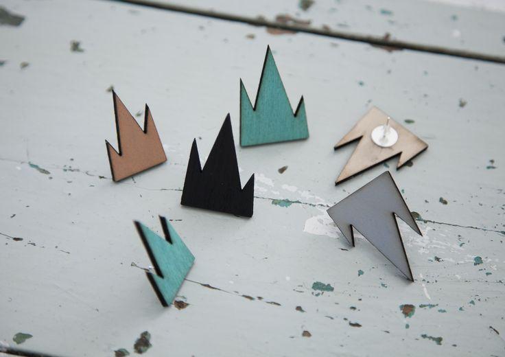 R/H for FLOW - Mountain Earrings
