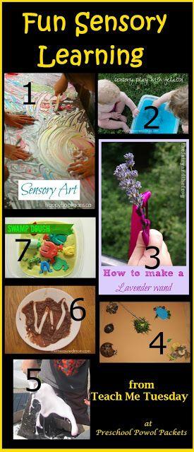 Fun Sensory Learning from Teach Me Tuesday!! #preschoolactivities #sensoryplay