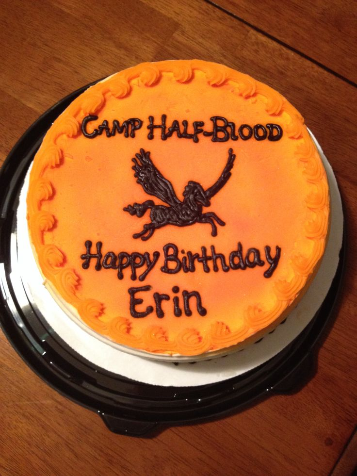 My Camp Half-Blood Birthday cake!!! (Ps this is seriously mine i didnt repin) ITS AMAZINGGGGG