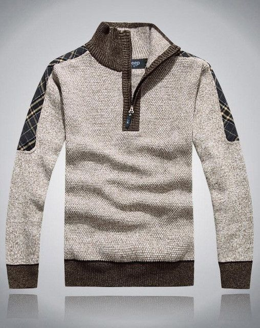 2017 male brand jumper men pullover sweater men's autumn & winter clothing 50% wool thickening casual knitted sweater,5 color