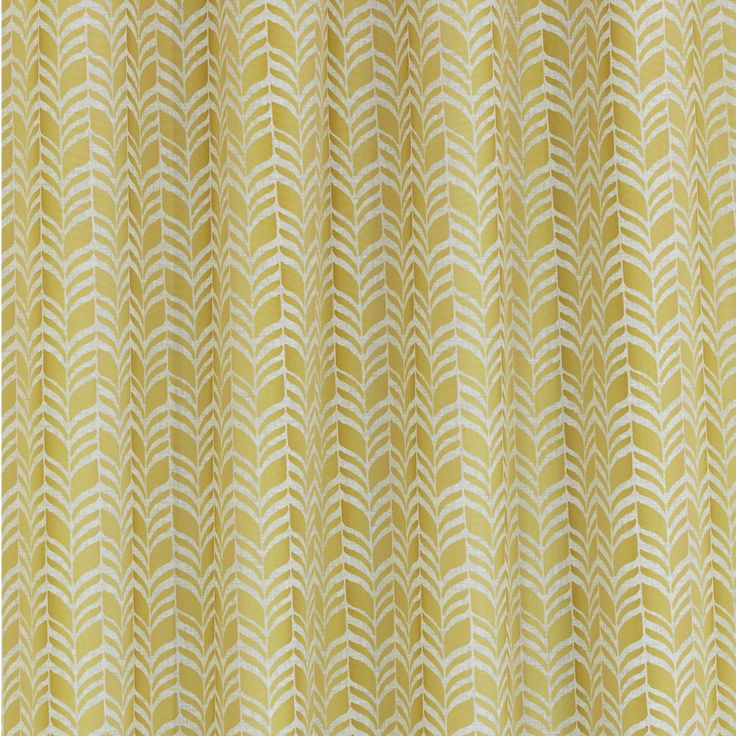 Metro Buttercup Mustard Yellow 14 Piece Shower Curtain Set Yellow Shower C