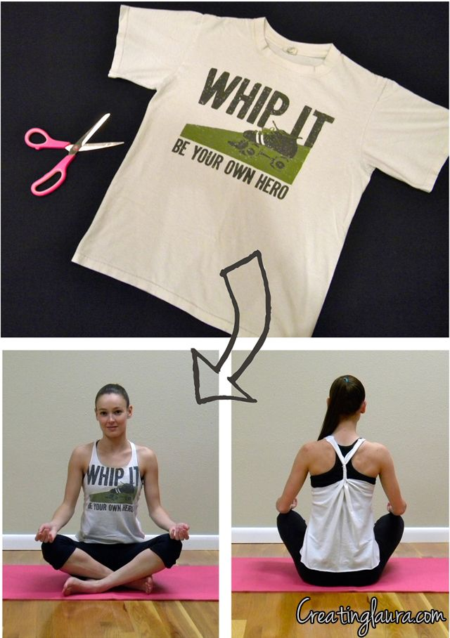 Creating Laura: No-Sew T-Shirt to Tank Top Project