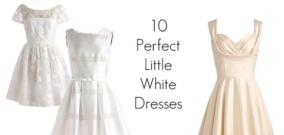 Short n' cute white wedding dress options, great for a Vegas elopement or modern wedding